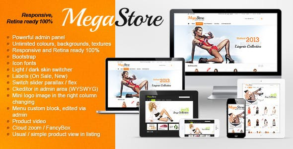 MegaStore - Responsive, Retina, Powerful Settings nulled theme download