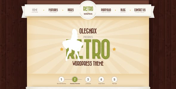 retro vintage website templates from themeforest