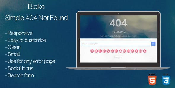 404 Page Not Found Html Website Templates From Themeforest