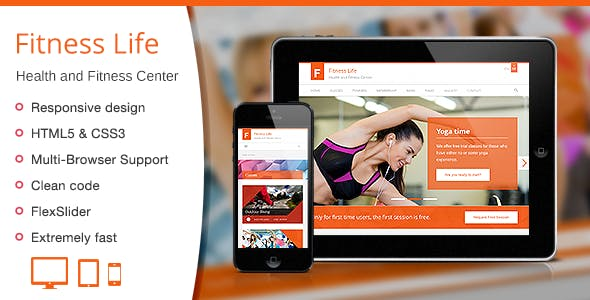 Fitness Life - Gym/Fitness HTML Template