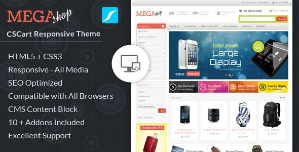Mega Shop - CS-Cart Responsive Theme nulled theme download