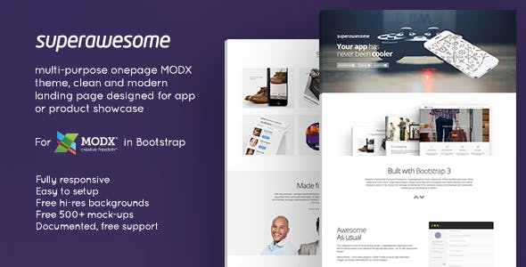 Superawesome - Responsive Multi-Purpose MODx Theme nulled theme download