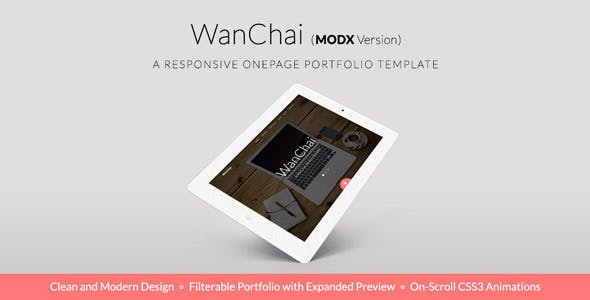 WanChai - Responsive Onepage Portfolio nulled theme download