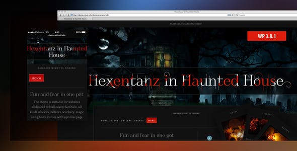 horror website templates from themeforest
