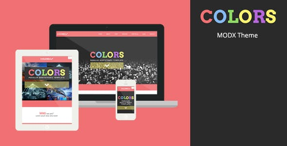 Colors - MODX Creative Theme nulled theme download