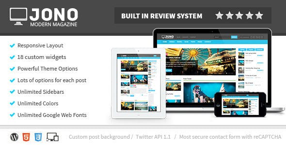 Jono Responsive Wordpress Magazine Theme By Wellthemes Themeforest