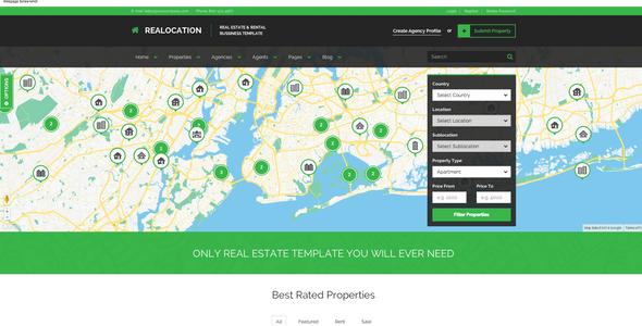 realocation modern real estate template realocation modern real estate template