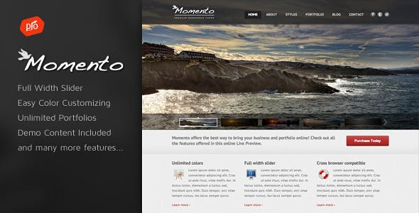 Photography business website templates from themeforest momento photography and business theme accmission Image collections