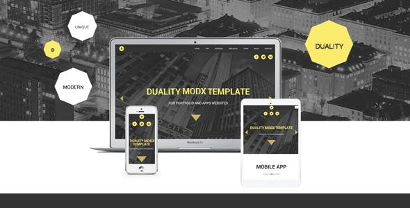 Duality - MODX One Page Theme nulled theme download