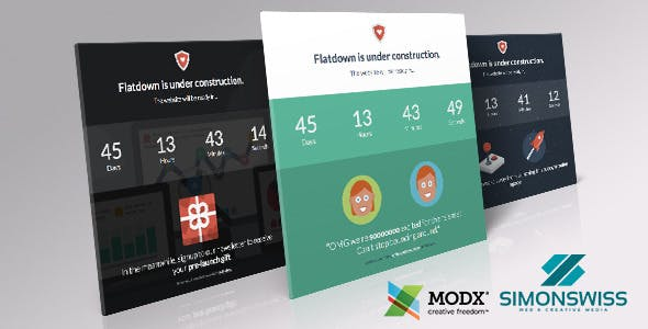 Flatdown - Coming Soon MODX Theme nulled theme download