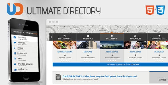 Business listing templates from themeforest directory responsive site template friedricerecipe Image collections