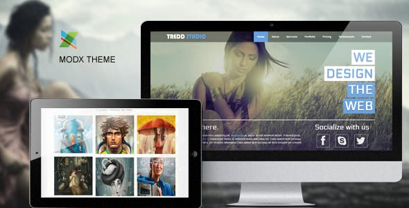Tredd Studio - Responsive One Page MODX Theme nulled theme download