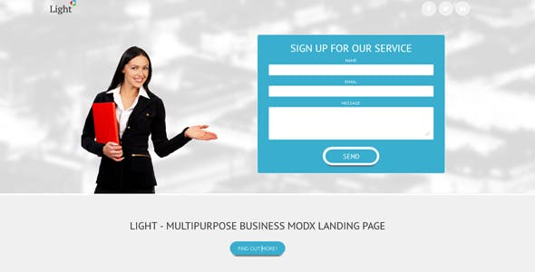 Light - Business MODX landing page  nulled theme download