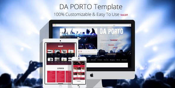 Da Porto - One Page Music & Band MODX Template nulled theme download