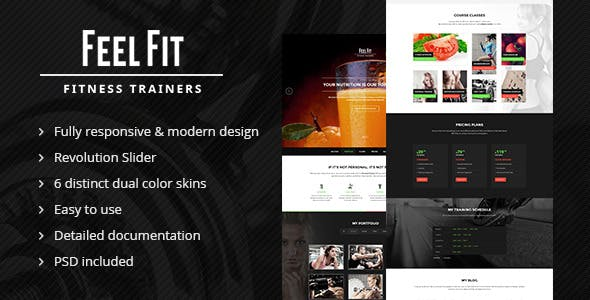 personal trainer one page website templates from themeforest