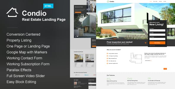 Parallax Landing Pages Templates From ThemeForest Page 4