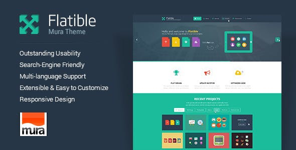 Flatible - Responsive Single Page Mura Theme nulled theme download