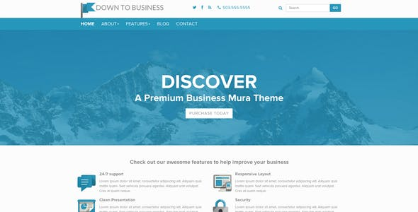 Down to Business - Mura CMS Theme nulled theme download