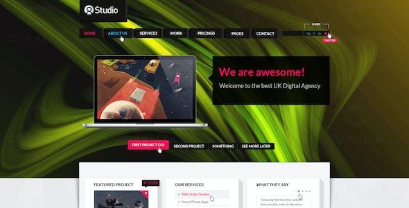 3d design templates from themeforest a stunning interactive agency psd a stunning interactive agency psd maxwellsz